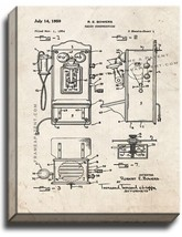 Telephone - Radio Construction Patent Print Old Look on Canvas - $39.95+