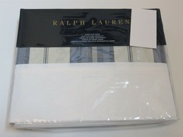 Ralph Lauren Allister Hagan stripe Queen Flat Sheet $185 - $75.61