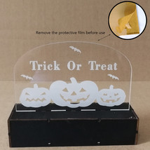 Wooden Halloween Pumpkin/Witch/Haunted House Acrylic LED Light for Home ... - $15.91
