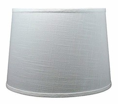 Urbanest French Drum Lampshade, Linen, 14-inch by 16-inch by 11-inch, Off White, - $49.49