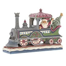 Enesco Jim Shore Heartwood Creek Victorian Santa in Train - $89.09