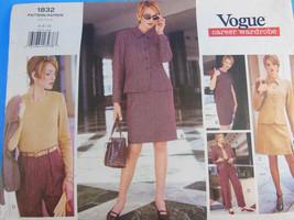 Vogue Pattern 1832 Career Wardrobe Suit skirt t... - $7.91