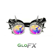 GloFX Chrome Spike Kaleidoscope Goggles Padded Hard Plastic Diffraction Youngers - $47.99+