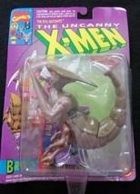 Vintage 1993 The Uncanny X-Men BROOD Action Figure w/ Marvel Trading Car... - $24.74