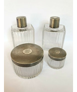 Rare PUIFORCAT Paris France Crystal Sterling Silver Perfume Bottle Powde... - $431.65