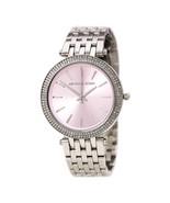Michael Kors MK3352 Darci Pink Dial Stainless Steel Ladies Watch - $289.56