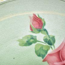 "Antique K&G Keller Guerin Luneville Faience Rose Pattern 12.5"" Plate Platter image 3"