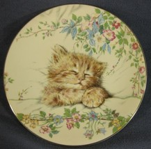 Cat Nap Collector Plate Kitten Classics Pam Cooper Royal Worcester 1985 - $19.95