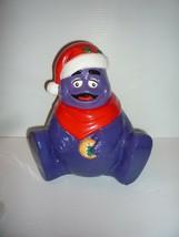 1997 Vintage McDonald's GRIMACE as SANTA CLAUS Cookie Jar MINT - $34.65