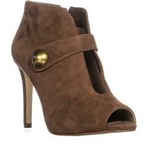 MICHAEL Michael Kors Agnes Studded Cut-Out Pointed Toe Heels, Dark Caramel, 7.5 - $176.63
