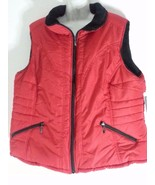 KC Collections Women's Quilted Fleece Red Vest 3X 26 28 Plus Size Campin... - $46.74