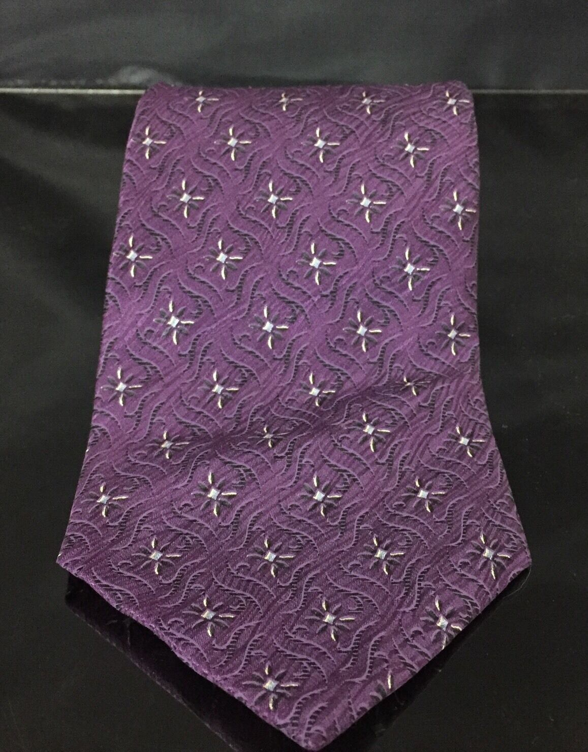 Primary image for BILL BLASS Purple  Silk Necktie