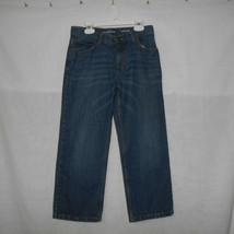 Lands End Iron Knee Relaxed Fit Denim Jeans Boys Size 8 Adjust Waist Med... - $14.83