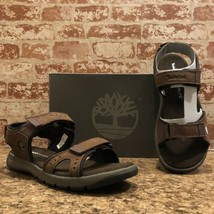 TIMBERLAND MEN'S HOVERLITE SANDALS DARK BROWN STYLE TBOA1QZ4 SIZE 12M - $46.79