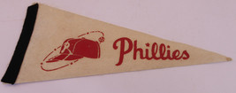RARE 1960's PHILADELPHIA PHILLIES Baseball Mini Pennant 4 x 9 MLB ~FREE ... - $19.74