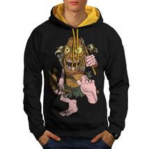 Animated Hunter Sweatshirt Hoody Funny Men Contrast Hoodie - $23.99+