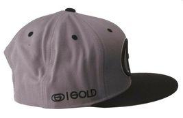 Gold Wheels Skateboarding Silver Grey Black Classic Logo Snapback Baseball Hat image 3