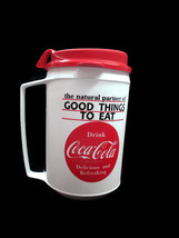 Coca-Cola Travel Mug Can Holder With Handle Insulated White Good Things ... - $5.94