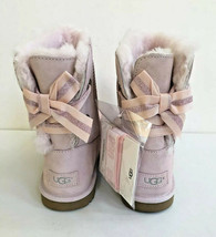 UGG CUSTOMIZABLE BAILEY BOW II PINK KID/YOUTH US 6 - fit Women US 8 /EU ... - $111.27
