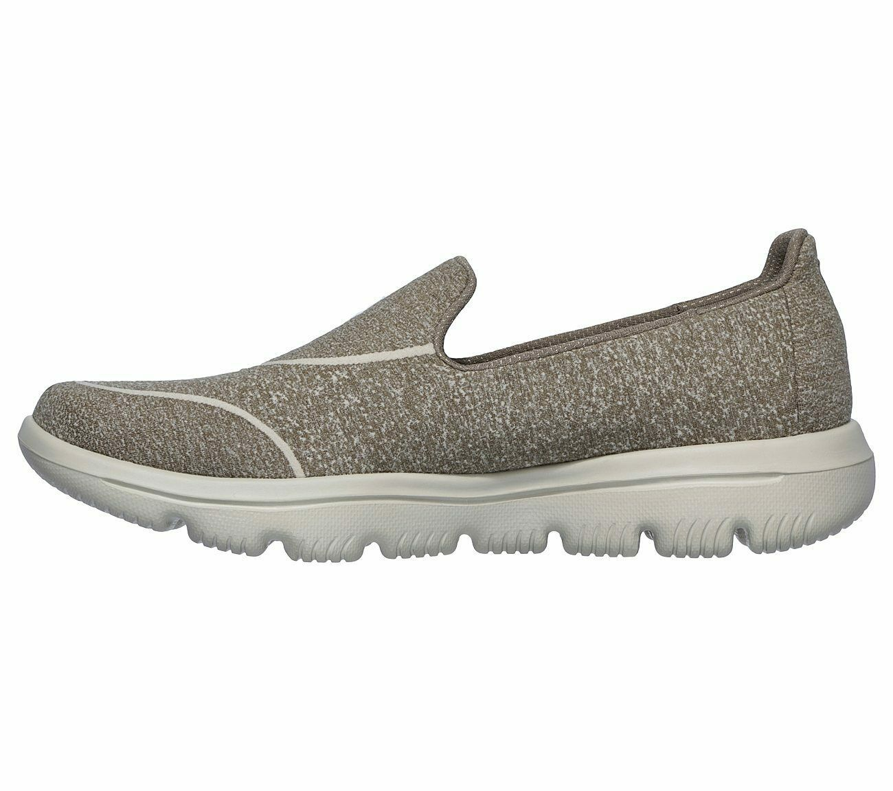 Skechers Shoes Taupe Go Walk Women Super Suck Soft Casual Slip On Comfort 15732 image 3