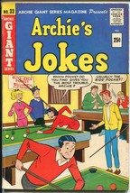 Archie's Jokes #33 1965-Archie Giant-Betty-Veronica-pool hall cover-VG - $44.70