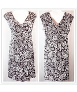 LOFT Black & White Paisley Dress Small EUC - $24.00