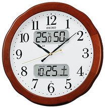 Seiko Clock with a Liquid Crystal Display Hanging Clock Radio Hanging Clock Temp - $205.30