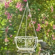 Zaer Ltd. Hanging Metal Basket Planter (Antique White) - $44.95