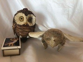 Unique set of 3 items with Owl Motive Vintage Set - $29.69