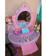 Rare Sofia The First Vanity Mirror with Stool - $96.75