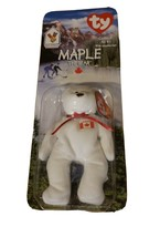 Maple the Bear rare and retired  New in Package. TY Beanie Baby Mcdonalds unopen - $106.23