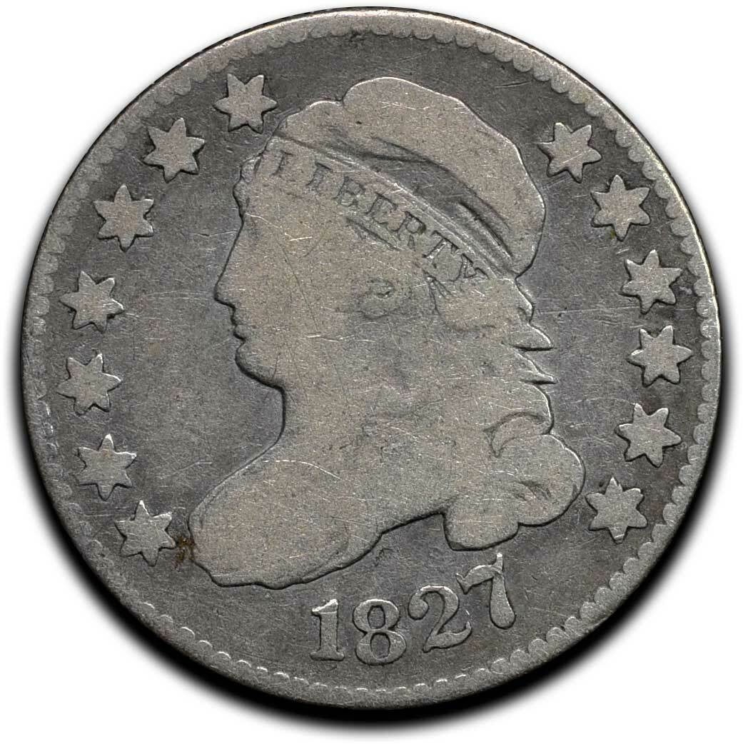 1827 Silver Bust Dime 10¢ Coin Lot# A 514