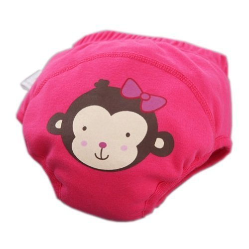 Toddlers Infant Reusable Washable Baby Newborn Flexible Diaper Pants Monkey Rose