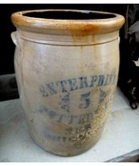 vintage CROCK ENTERPRISE POTTERY CO 5 gallon NEW BRIGHTON PENNSYLVANIA p... - $325.00