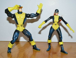 "Vintage MARVEL TOYBIZ CYCLOPS & JEAN GREY Action Figure Lot 1997 5"" X-Men - $20.13"