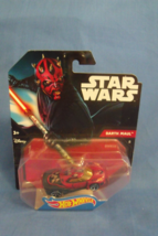 Toys Mattel NIB Hot Wheels Disney Star Wars Darth Maul Die Cast Cars - $10.95