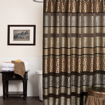 Popular Bath Safari Stripes 70 x 72 Fabric Bathroom Shower Curtain - $30.09