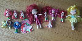 "Lot of 7 Strawberry Shortcake scented 3"" Mini figures Dolls Hasbro 2008 ... - $4.95"