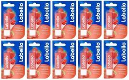 10x Labello Nivea Fruity Shine Strawberry Liposan Caring Lip Balm FREE S... - $29.80