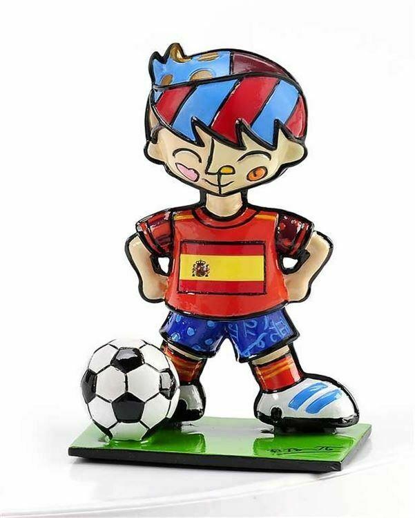 Romero Britto Mini World Cup Soccer Player Mini Figurine Spain