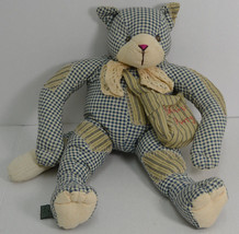 "Bath & Body Works Cat Plush Decor Folkart Patchwork Plaid Catnip Purrs 18"" - $34.62"