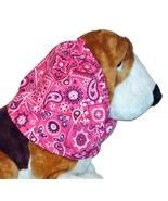 Magenta White Black Paisley Bandana Print Cotton Dog Snood by Howlin Hou... - $13.50