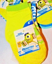 Disney Monsters University 3 Pair Pack No Slip Socks Sz 2-4 Shoe Sz 4-7 - $5.24