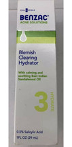 Benzac Acne Solutions Blemish Clearing Hydrator 1 oz  Hydrate 3 Salicyli... - $18.42