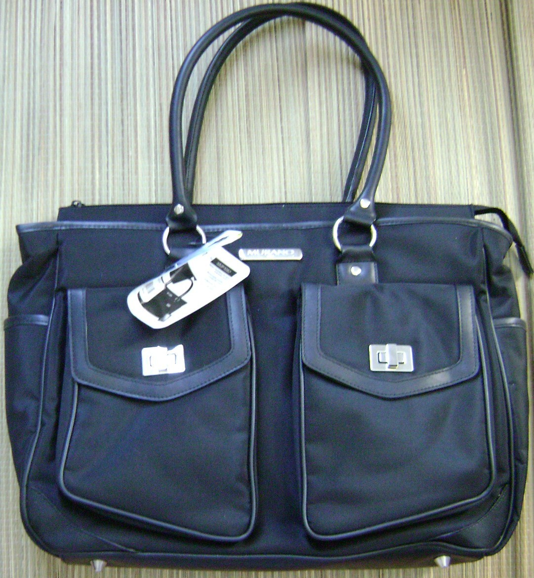 Primary image for MURANO ULTRA TRAVEL TOTE WITH REMOVABLE COMPUTER SLEEVE/ATTACHMENTS BLACK NEW