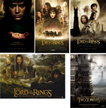 Lot of 5 Different NEW LOTR Movie POSTERS LORD OF THE RINGS 20x13 Trilog... - $24.99