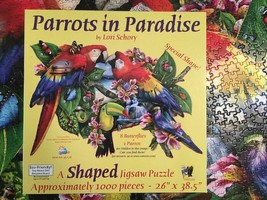 Parrots in Paradise by Lori  Schory  Sunsout 1000 Piece Jigsaw Puzzle - $17.82