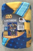 Disney Star Wars Very Soft & Large Blanket For Kids,100% Polyester 46 in... - $12.73