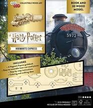 Harry Potter Movie Hogwarts Express 3D Laser Cut Wood Model & Deluxe Boo... - $24.08