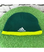 Adidas Portland Timber Boys Sz 4-7 Hat Green Stretch Knit Warm Winter Sk... - $14.84